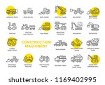 construction machinery vector... | Shutterstock .eps vector #1169402995
