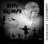 spooky halloween background... | Shutterstock .eps vector #1169408095