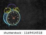 vintage analog alarm clock icon ... | Shutterstock . vector #1169414518