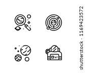 space outline icon set. 10 eps... | Shutterstock .eps vector #1169423572