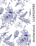 floral seamless pattern with... | Shutterstock .eps vector #1169424985