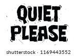 silence shhh quiet please of... | Shutterstock .eps vector #1169443552