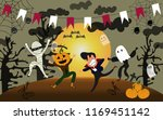 halloween vector illustration ... | Shutterstock .eps vector #1169451142