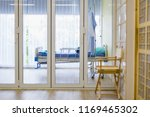 wheelchair and hospital bed at...   Shutterstock . vector #1169465302