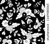beautiful floral seamless... | Shutterstock .eps vector #1169480065
