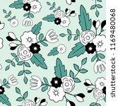 beautiful floral seamless... | Shutterstock .eps vector #1169480068