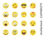 emoticons flat icons    Shutterstock .eps vector #1169483275