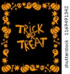 halloween card with frame ...   Shutterstock .eps vector #1169491342