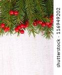 christmas fir tree on the... | Shutterstock . vector #116949202