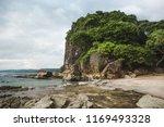 the rocky beach shore of playa... | Shutterstock . vector #1169493328