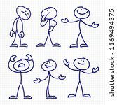 simple hand drawn stick figures ... | Shutterstock . vector #1169494375