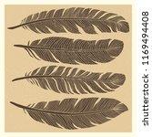 set of grunge vintage bird... | Shutterstock . vector #1169494408