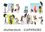 photographers taking photo...   Shutterstock . vector #1169496382