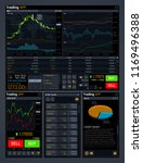 stock trading concept ui with...