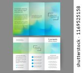 color tri fold business... | Shutterstock .eps vector #1169525158
