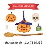 halloween vector set | Shutterstock .eps vector #1169526388