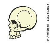 human skull in profile. cartoon ...   Shutterstock .eps vector #1169532895