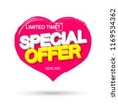 special offer  valentines day... | Shutterstock .eps vector #1169534362