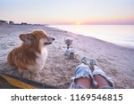 happy weekend by the sea   girl ... | Shutterstock . vector #1169546815