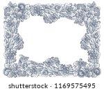 vintage vector lineart floral...   Shutterstock .eps vector #1169575495