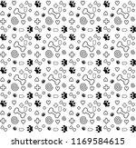 pattern cat lover vector   Shutterstock .eps vector #1169584615