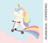 cute unicorn vector. | Shutterstock .eps vector #1169602462