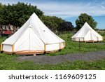 camping tents on governors... | Shutterstock . vector #1169609125