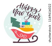 happy new year. holiday vector... | Shutterstock .eps vector #1169616022