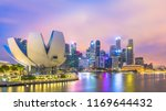 singapore skyscraper central... | Shutterstock . vector #1169644432
