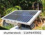 solar panel in the garden | Shutterstock . vector #1169645002