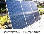 solar panel in the garden | Shutterstock . vector #1169645005