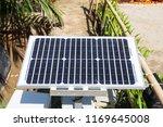 solar panel in the garden | Shutterstock . vector #1169645008