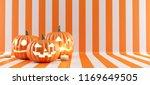 happy halloween pumpkin on... | Shutterstock . vector #1169649505
