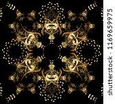 seamless golden pattern. vector ... | Shutterstock .eps vector #1169659975