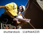 rope access rigger worker... | Shutterstock . vector #1169664235