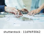 iot and automation concept as... | Shutterstock . vector #1169693062