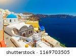 oia  santorini   greece. famous ... | Shutterstock . vector #1169703505