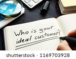 who is your ideal customer... | Shutterstock . vector #1169703928