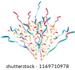 colorful bright confetti... | Shutterstock .eps vector #1169710978