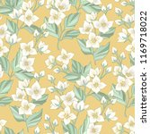 floral seamless pattern with... | Shutterstock .eps vector #1169718022