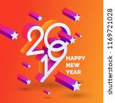 happy new year poster 2019.... | Shutterstock .eps vector #1169721028