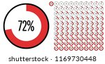 set of circle percentage... | Shutterstock .eps vector #1169730448