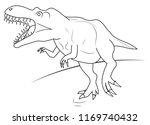 a hungry tyrannosaurus dinosaur ... | Shutterstock .eps vector #1169740432