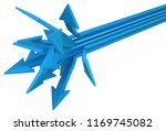 blue symbolic arrow end spread  ... | Shutterstock . vector #1169745082