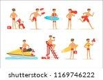 Lifeguard Man Character Doing...