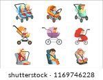 baby carriage set. different...   Shutterstock .eps vector #1169746228
