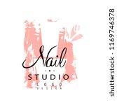 nail studio logo design ... | Shutterstock .eps vector #1169746378