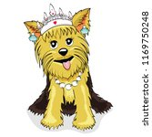cute lovely yorkshire terrier... | Shutterstock .eps vector #1169750248