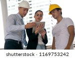 team engineer with construction ... | Shutterstock . vector #1169753242