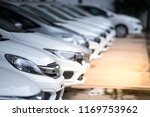 cars for sale stock lot row.... | Shutterstock . vector #1169753962